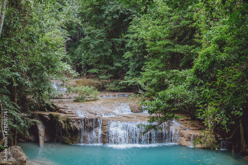 Small tiered waterfall in Thailand - 78258776