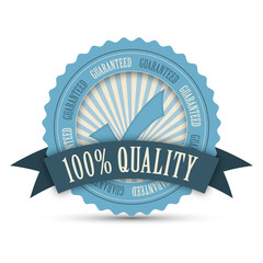 """100% QUALITY"" Marketing Stamp (guarantee top premium)"