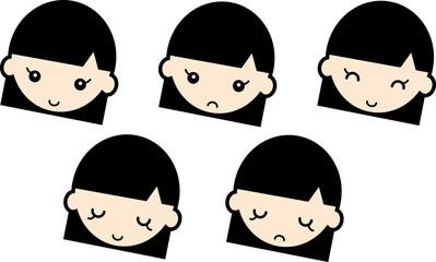 表情・女の子