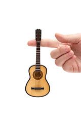 guitar on the white background