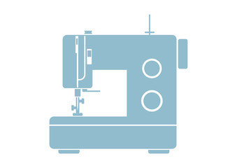 Sewing machine icon on white background