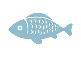 Fish vector icon on white background
