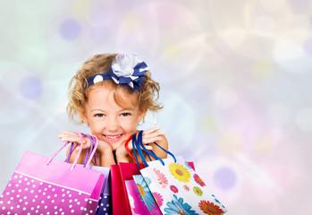 bella bimba a fare shopping