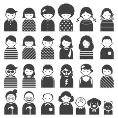 Various People Symbol Icons Family Set