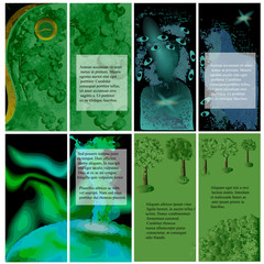 set of template for brochures