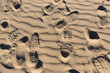 canvas print picture - Orme sulla spiaggia, texture