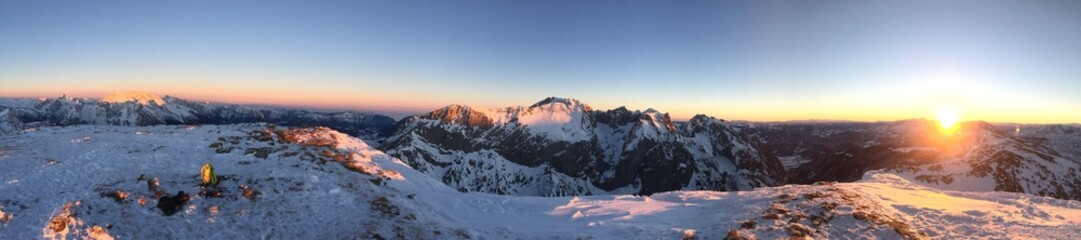 Sonnenaufgang auf dem Schneibstein