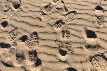 Orme sulla spiaggia, texture