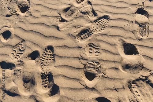 canvas print picture Orme sulla spiaggia, texture