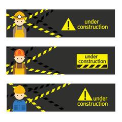 Worker, Craftsman with Under Construction Banner