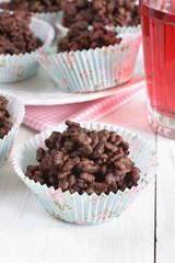 Chocolate rice krispy cakes