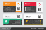 Fototapety Letter D logo corporate business card