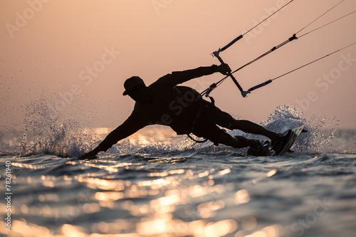 Fotobehang Extreme Sporten Kitesurfing