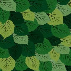 Green leaves carpet