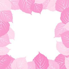 Pink leaves frame