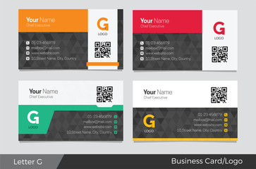 Letter G logo corporate business card