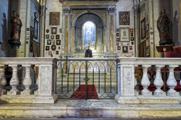 medieval church internal view