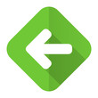 canvas print picture - left arrow flat icon arrow sign