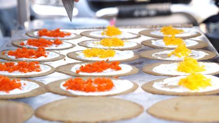 thai crepe dessert