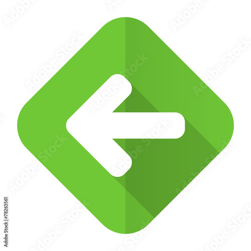 canvas print picture left arrow flat icon arrow sign