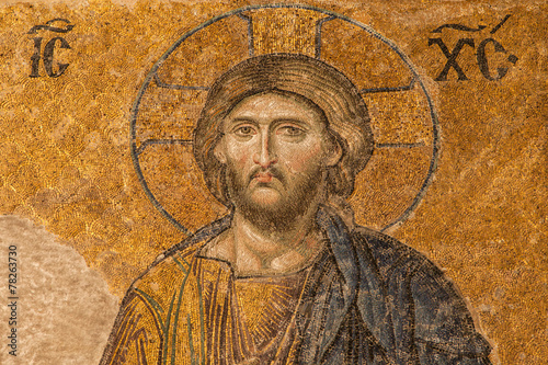 Foto op Canvas Wand Jesus Christ mosaic