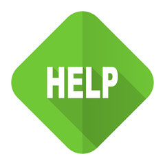 help flat icon