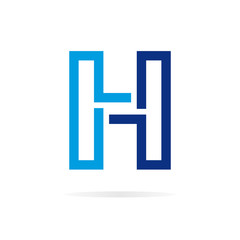 Logo H letter for company vector design template.