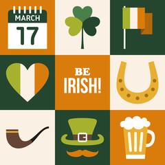 Vecor set of St. Patricks Day illustrations
