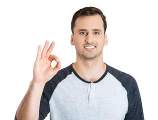 Man showing ok sign