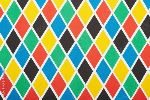Harlequin colorful diamond pattern, texture background - 78264576