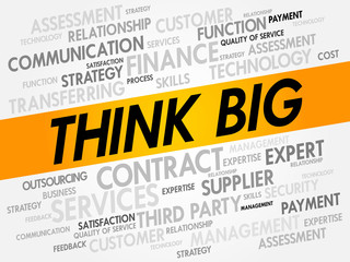 THINK BIG word cloud, business concept