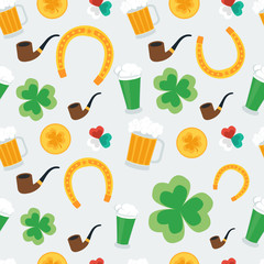 Seamless background for St. Patrick's Day. vector