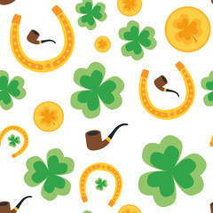 Seamless background for St. Patrick's Day. Isolated. vector