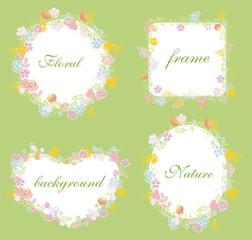 Набор свадебный графическим цветочным набора кадров