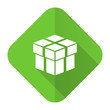 canvas print picture - box flat icon