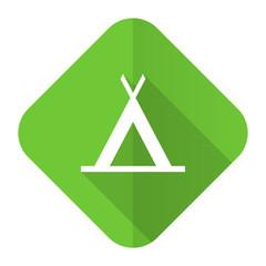 camp flat icon