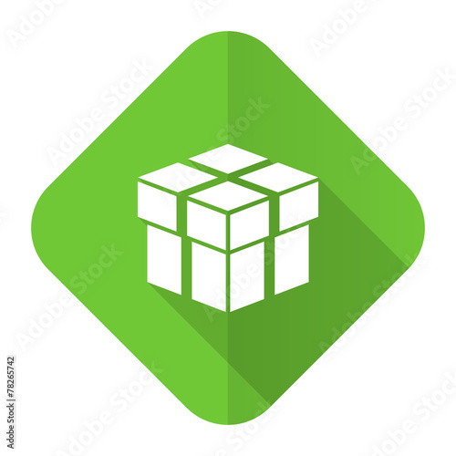 canvas print picture box flat icon