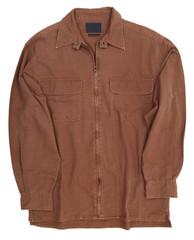 Man's brown cotton shirt