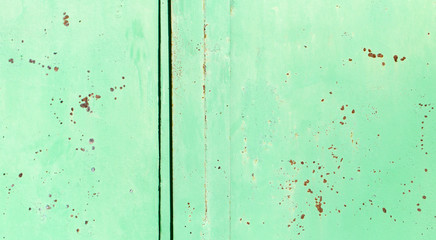 rusty green metal
