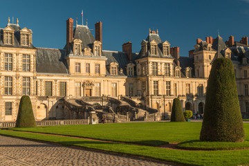 Fountainblu castle near Paris France