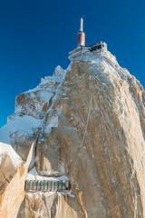 Aguille de midi near Chamonix French Alps