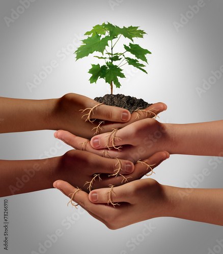 Leinwanddruck Bild Community Cooperation