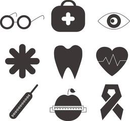 Векторные Здоровье иконки для дизайна