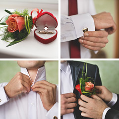 groom, wedding set