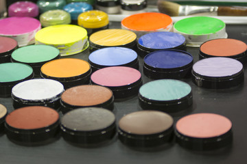 Rouge makeup multicolored