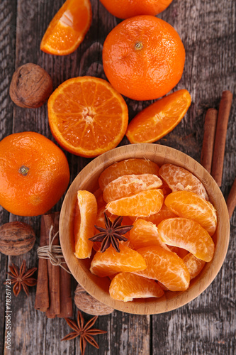 canvas print picture orange and spices