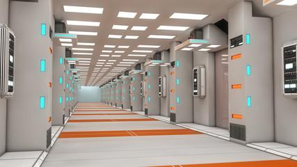 Futuristic room architecture