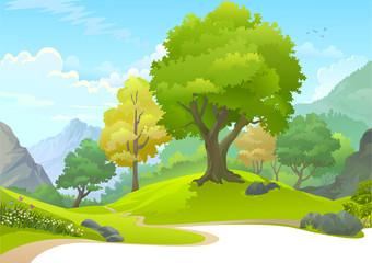 Path through a serene forest