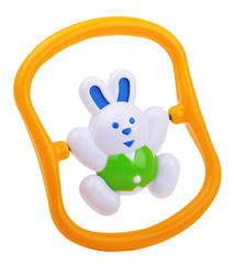 colorful baby rabbit rattle