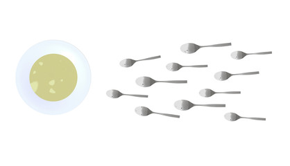 spoons look like sperm competition